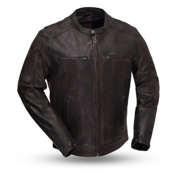 Men Hipster Motorcycle Leather Jacket