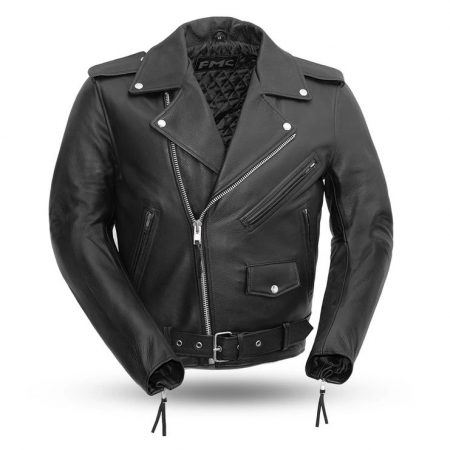 Men Superstar Black Leather Motorcycle Jacket