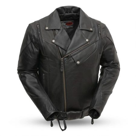 Mens 60's New Yorker Fashion Leather Jacket