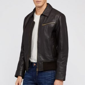 Mens Classic Shape Bonobos Leather Jacket