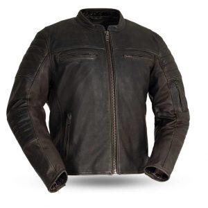 Mens Fashion Commuter Motorcycle Leather Jacket