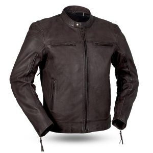 Mens Fashion Top Performer Brown Leather Jacket