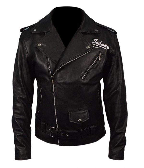 Mens Genuine Leather Marlon Brando Johnny Strabler BRMC The Wild One Jacket