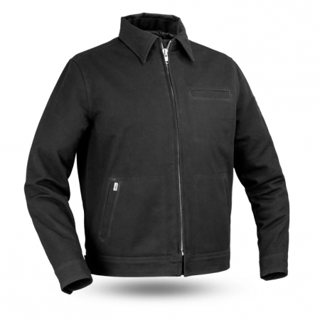 Mens Hanover Canvas Black Motorcycle Jacket