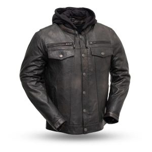 Mens Vendetta Leather Motorcycle Jacket