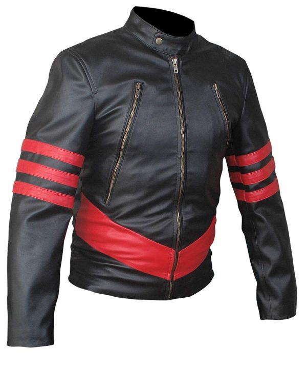 Mens X-Men Origins Wolverine Genuine Leather Jacket
