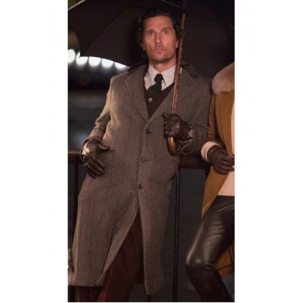 Mickey Matthew The Gentlemen Mcconaughey Grey Coat