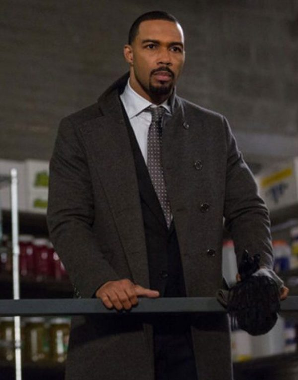 Power Omari Hardwick Wool Trench Coat