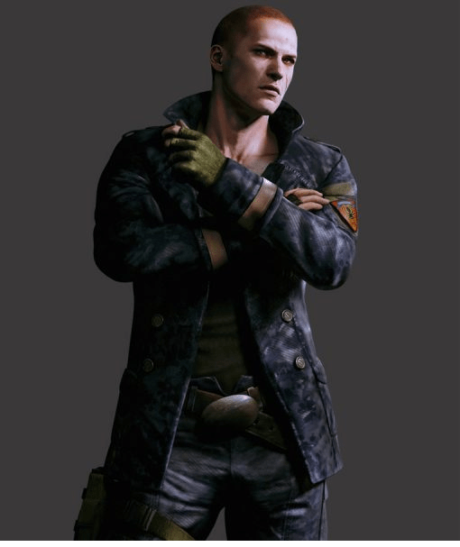 Resident Evil 6 Blue Double Breasted Jake Muller Jacket