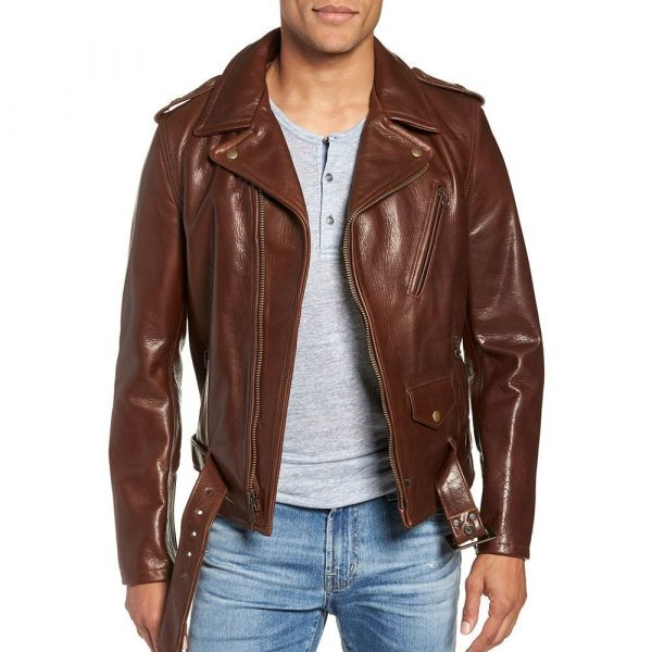 Schott NYC '50s Oil-Tanned Cowhide Moto Leather Jacket