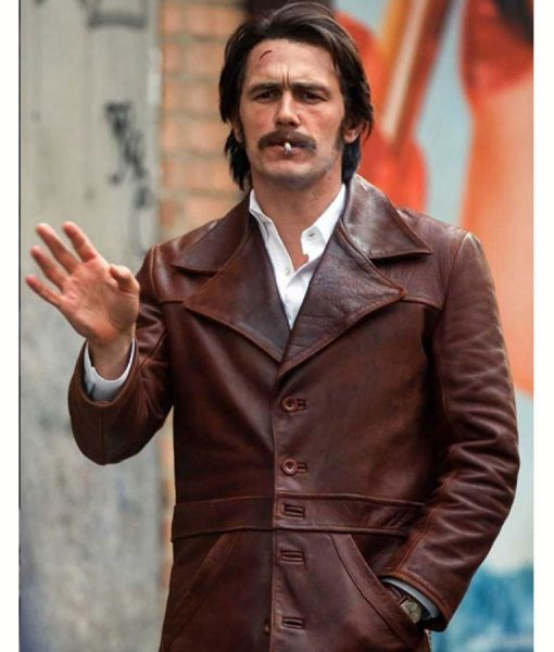 The Deuce James Franco Frankie Martino Brown Leather Jackets