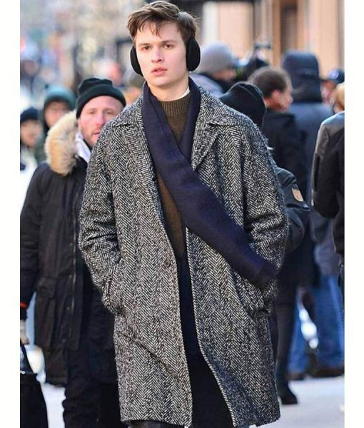 The Goldfinch Theo Decker Grey Wool Blend Ansel Elgort Coat