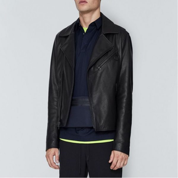 The Rich Pebbled Black Leather Jacket