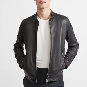 The Wild One Theory Black Leather Jacket