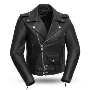 Womens Bikerlicious Black Leather Motorcycle Jacket