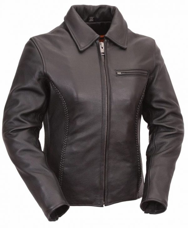 Womens Contessa Smooth Leather Jacket