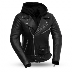 Womens Fashion Ryman Black Leather Jacket