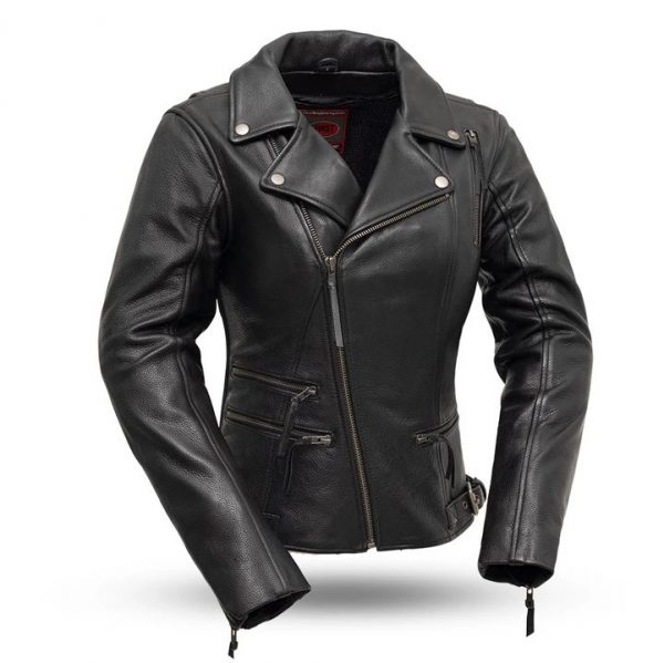 Womens Monte Carlo Black Classic Leather Jacket