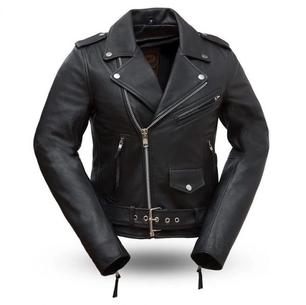 Womens Rockstar Black Motorcycle Leather Jacket