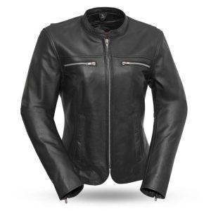 Womens Roxy Light Weight Cafe Style Leather Jacket
