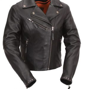 Womens Scarlett Star Motorcycle Leather Jacket