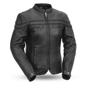 Womens The Maiden Black Motorcycle Leather Jacket
