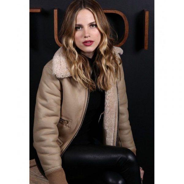 Zoey Deutch Brown Winter Shearling Jacket