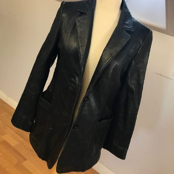 Adler Collection Genuine Lamb Skin Leather Coat