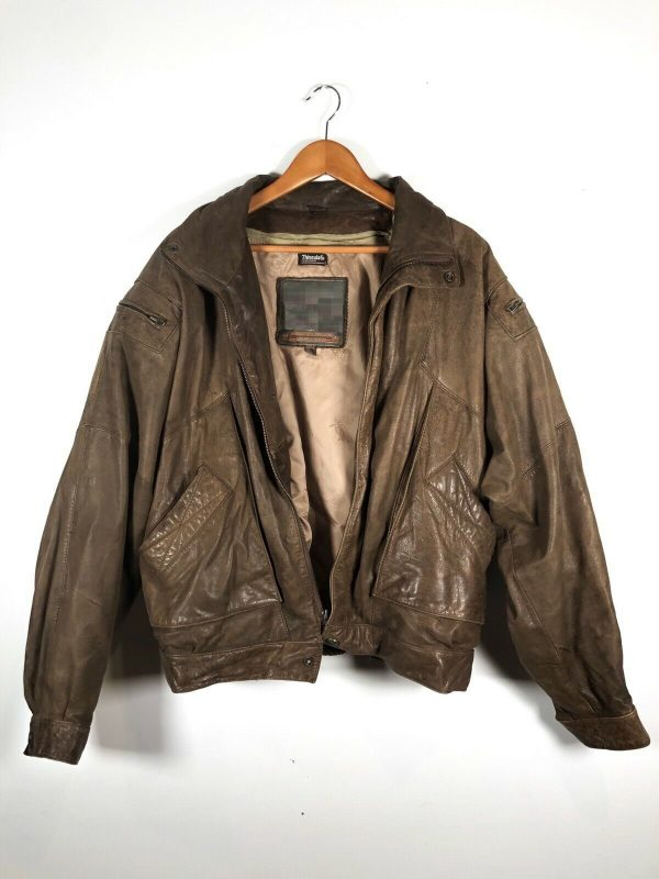 Adventure Thinsulate Bomber Bound Brown Leather Jacket