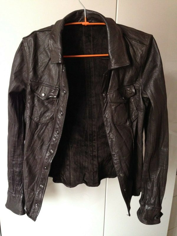 All Saints Womens Black Leather Jacket