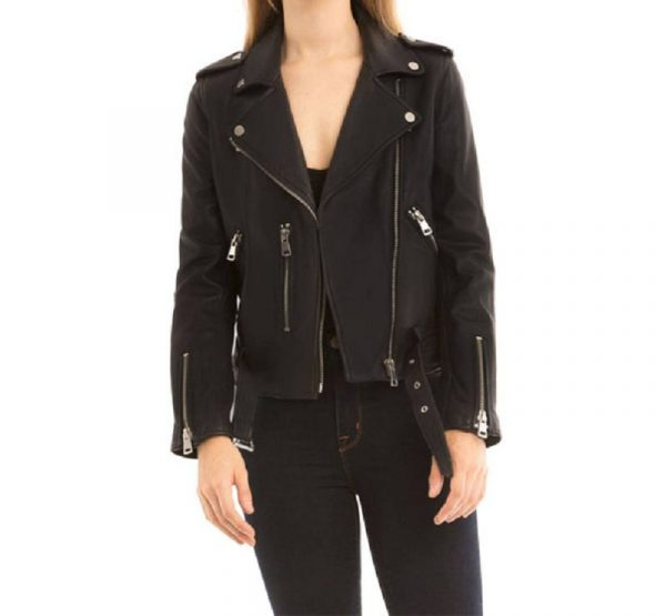 Bagatelle Black Biker Leather Jacket