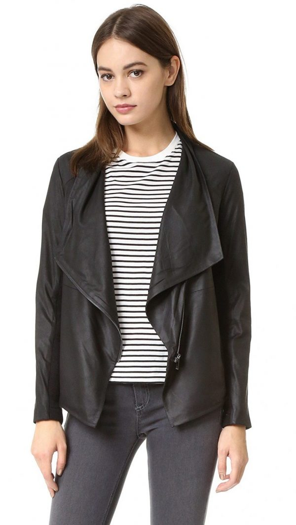 Bb Dakota Kenrick Soft Black Leather Jackets