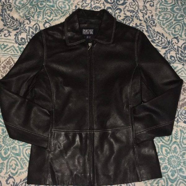Bill Blass Black Leather Jacket