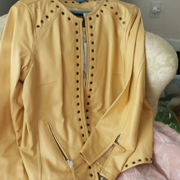 Bradley Bayou Yellow Leather Jacket