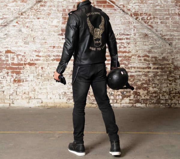 Classic Retro American Eagle Viking Motorcycle Leather Jackets