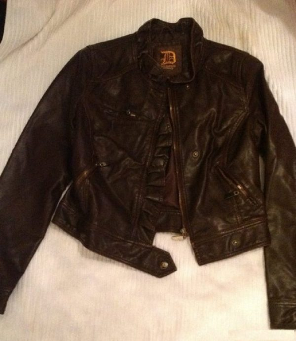 Dollhouse Brown Leather Jacket