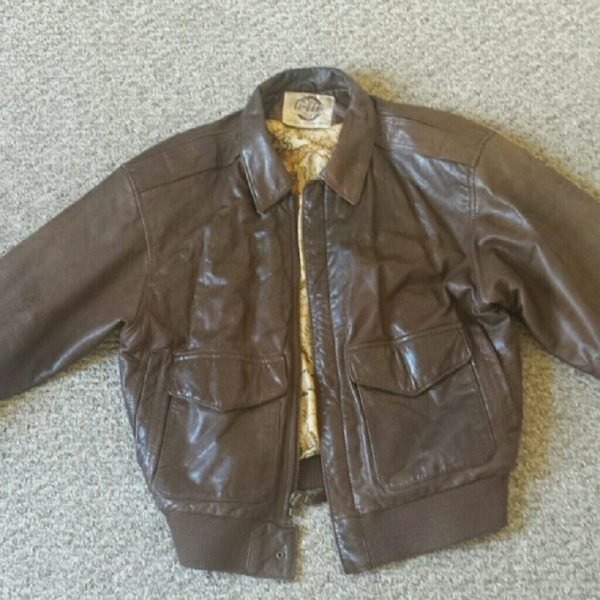 G3 Brown Bomber Leather Jacket