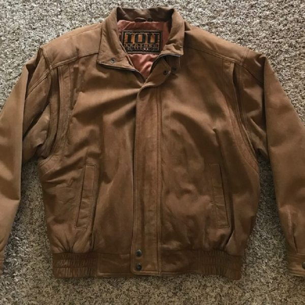 Iou Bomber Brown Leather Jacket