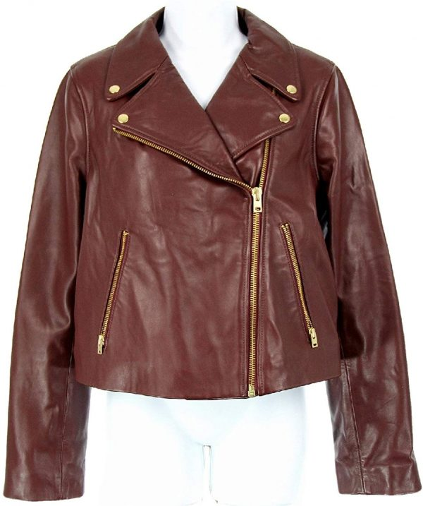 J Crew Collection Leather Motorcycle Jacket