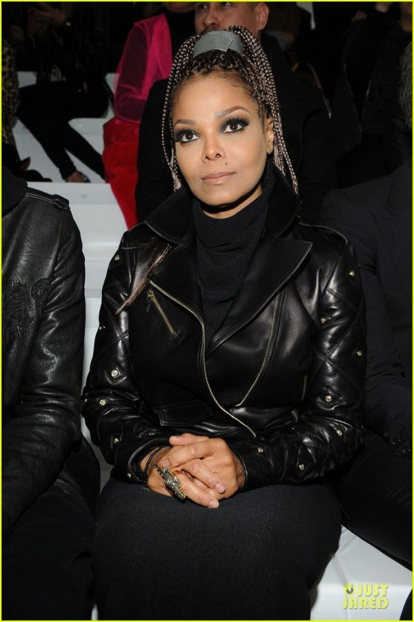 Janet Jackson Black Leather Jacket