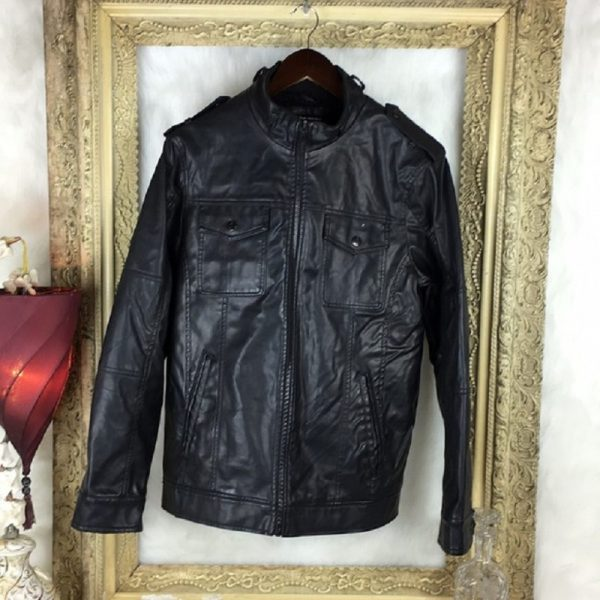 Jeans By Buffalo Faux Leather Bomber Jacket
