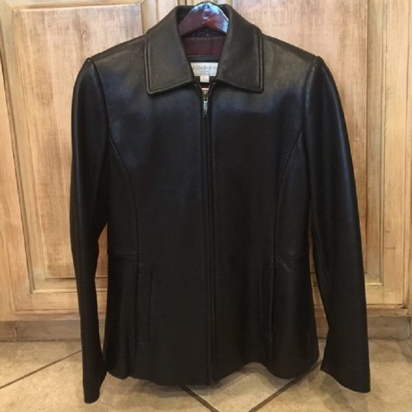 Liz Claiborne Soft Black Leather Jacket