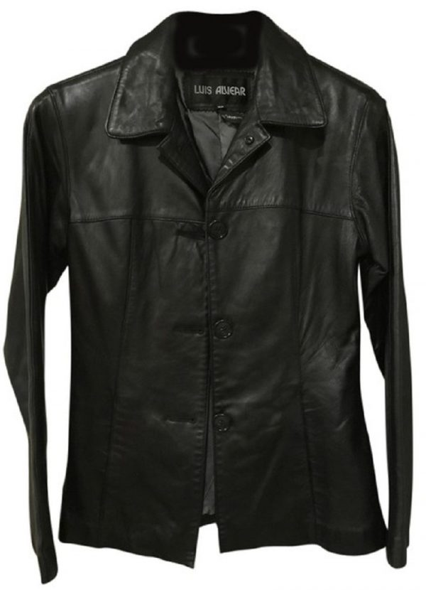 Luis Alvear Black Leather Jacket