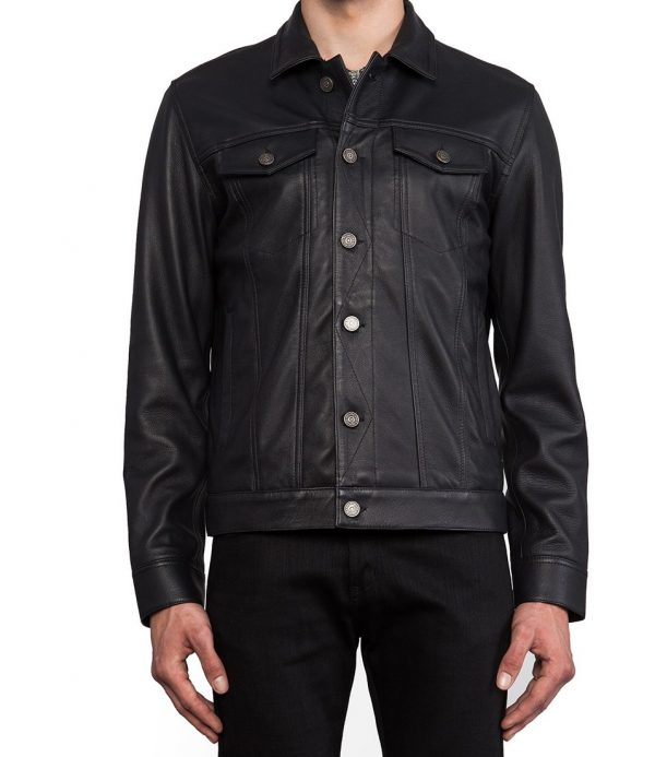 Marc Jacobs Orcha Black Leather Jacket