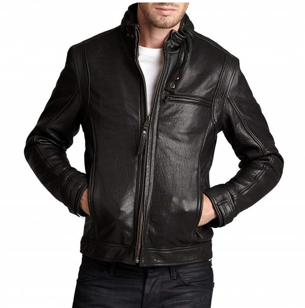 Mens Genuine Cowhide Leather Fencing Jacket