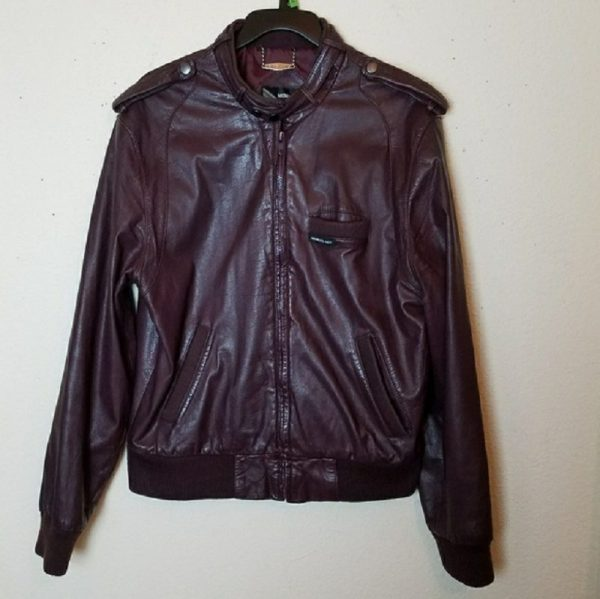 Mens Leather Members Only Jacket