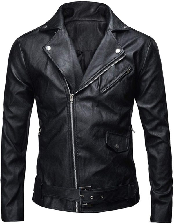 Mens Slim Fit Jungkook Black Leather Jacket