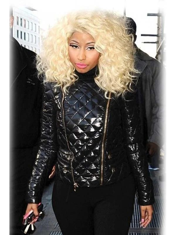 Nicki Minaj Quilted Black Leather Jacket