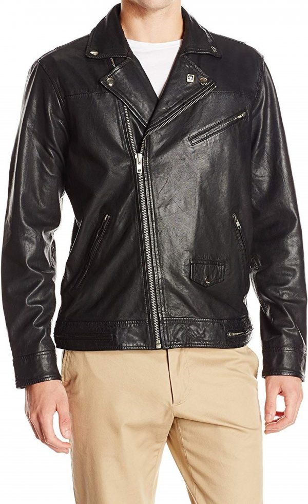Obey Men's Bastards Leather Jacket