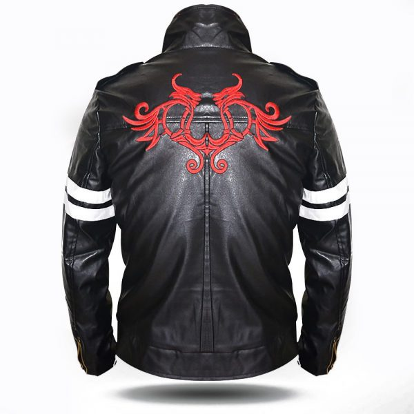 Prototype Alex Mercer Mens Cosplay Gaming Costume Black Biker Leather Jackets